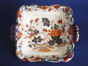 Charles Meigh Stone China 'Amherst Japan' Pattern Dish c1840